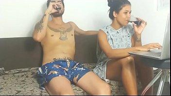 Porno brasileiro com Lunna Vaz fazendo sexo antes de dormir para relaxar
